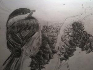 Bird on Cone